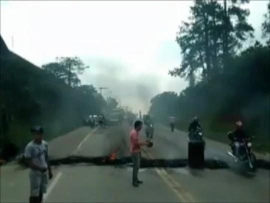 Moradores do Itinga realizam protesto contra a falta de segurança em Araquari