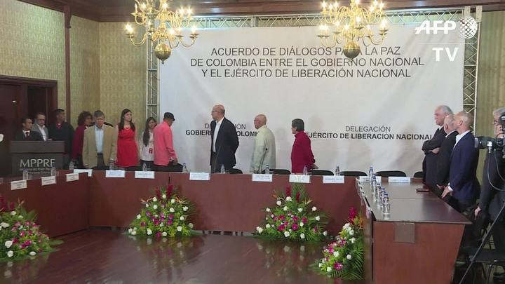 Colômbia e ELN vão iniciar negociações de paz