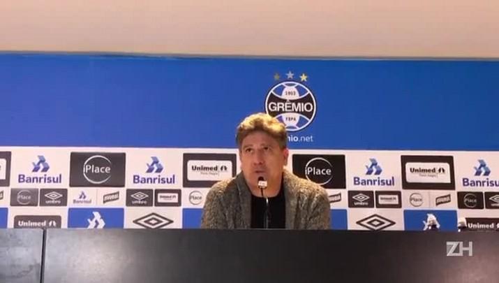 Renato Portaluppi fala sobre a situação de Bolaños no Grêmio