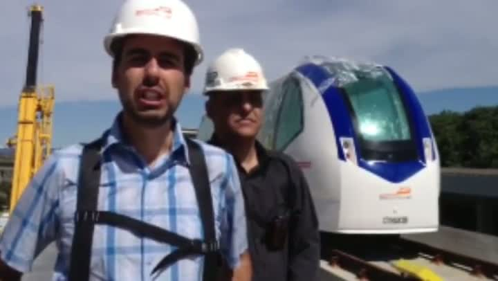 Engenheiro responsável pelo aeromóvel fala sobre o projeto