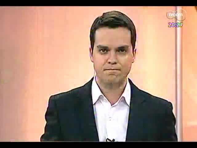 TVCOM 20 Horas - Informações sobre protesto, processo de investigação da tragédia de Santa Maria e futebol - Bloco 3 - 26/09/2013
