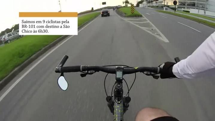 BIKE REPÓRTER - Volta de 85 km de Joinville a São Francisco do Sul