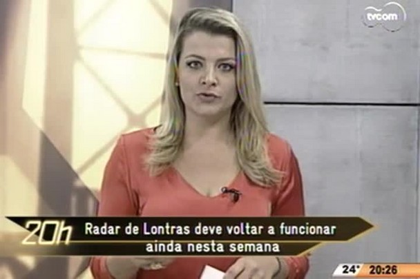 TVCOM 20 Horas - Radar de Lontras deve voltar a funcionar ainda nesta semana - 10.06.15