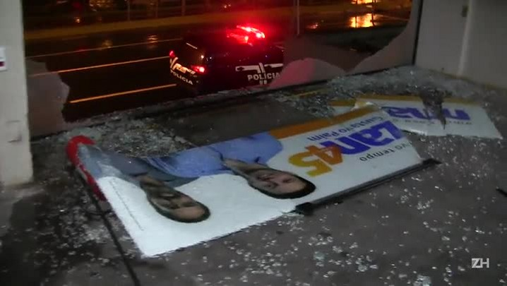 Sede do comitê de Nelson Marchezan é alvo de disparos no bairro Azenha
