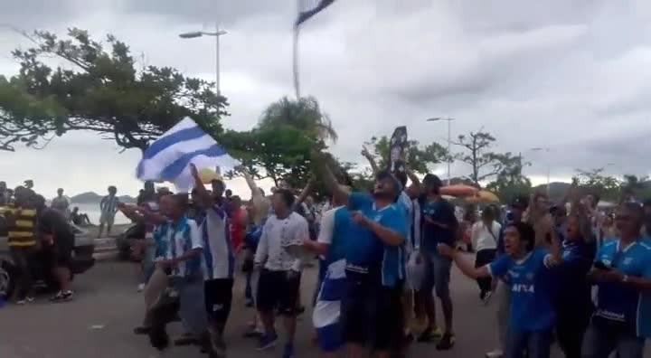 Torcida do Avaí comemora vitória e acesso à Série A do Brasileirão