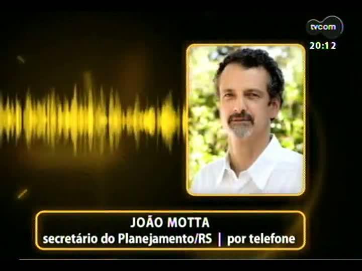 TVCOM 20 Horas - 08/01/13 - Bloco 2 - Secretário do Planejamento do RS responde a Jairo Jorge