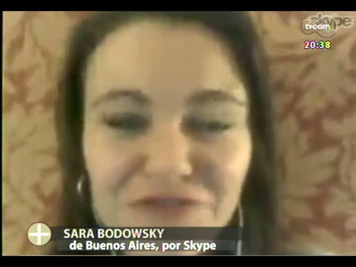 TVCOM Tudo Mais - Sara Bodowsky fala ao vivo de Buenos Aires sobre a repercussão da eleição do primeiro Papa latinoamericano