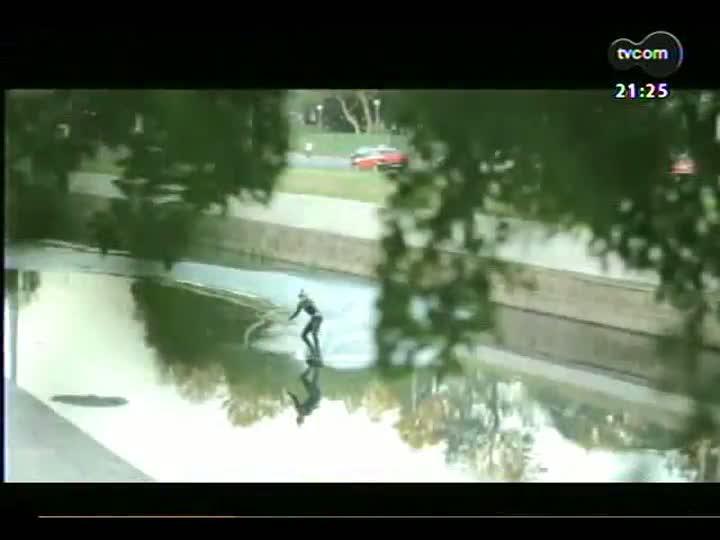 TVCOM Tudo Mais - Conversa com dois estudantes que praticaram wakeboard no Arroio Dilúvio