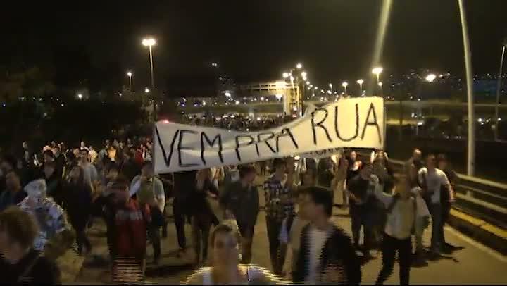 Manifestação em Florianópolis
