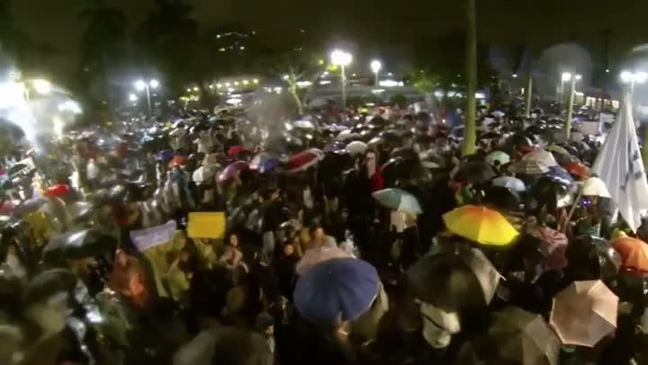 Confira vídeo do protesto em Joinville