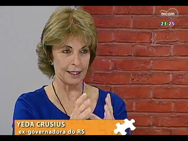 Mãos e Mentes - Economista e ex-governadora do Rio Grande do Sul Yeda Crusius - Bloco 3 - 29/09/2013