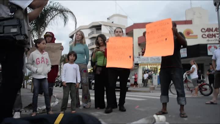 Protesto antimendigo em Canasvieiras