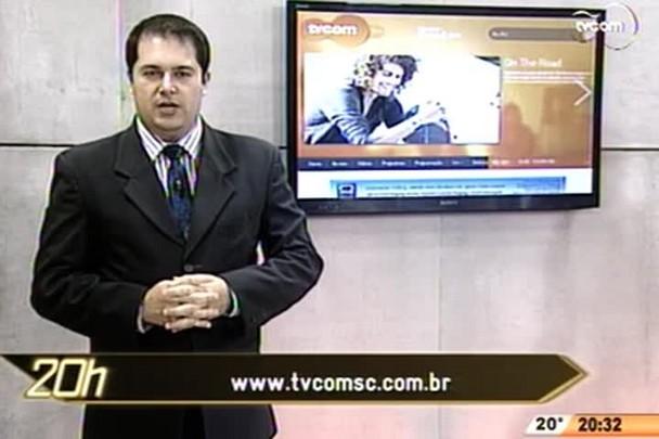 TVCOM 20 Horas - Sc ainda tem desabrigados das chuvas de junho - 3º Bloco