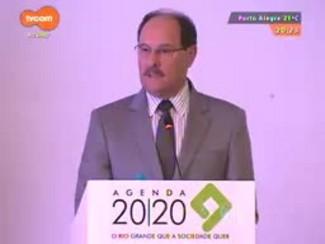 TVCOM 20 Horas - Candidatos Sartori e Tarso participaram de evento da agenda 2020 para discutir os desafios do RS - Bloco 2 - 17/10/2014
