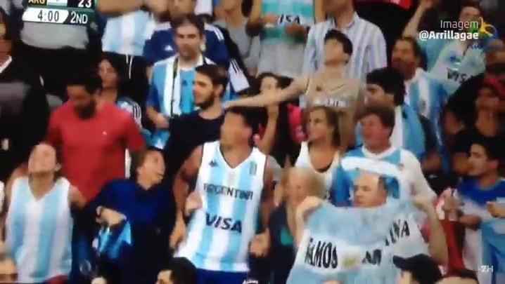 A festa dos argentinos nas arquibancadas da Olimpíada