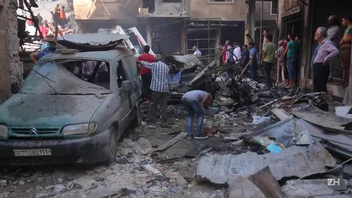 Sábado sangrento na Síria