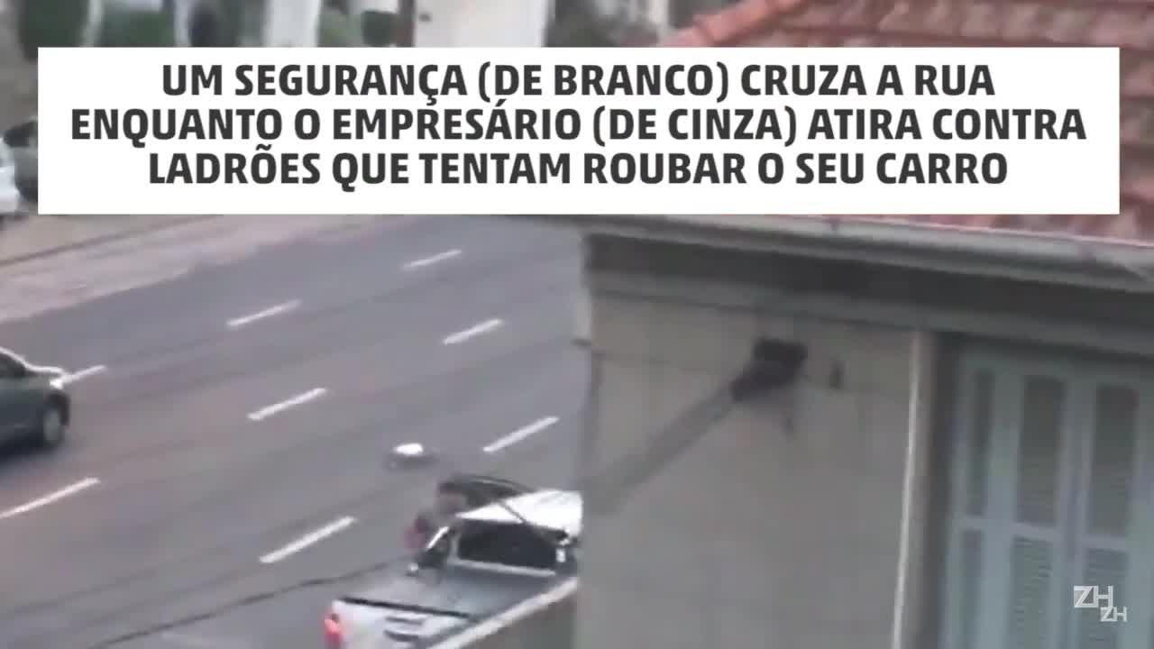 Vítima reage a assalto na Rua 24 de Outubro, em Porto Alegre