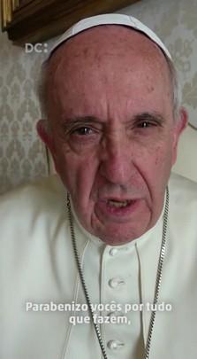 Papa Francisco grava mensagem para crianças de Florianópolis