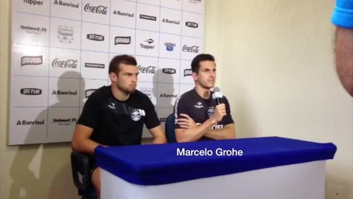Marcelo Grohe fala sobre o trabalho do técnico Enderson Moreira. 17/01/2014
