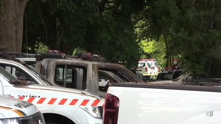 Polícia investiga incêndio em viaturas da Brigada Militar