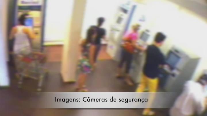 Veja imagens da atua��o dos ladr�es que assaltavam mulheres em centro comercial de Canoas