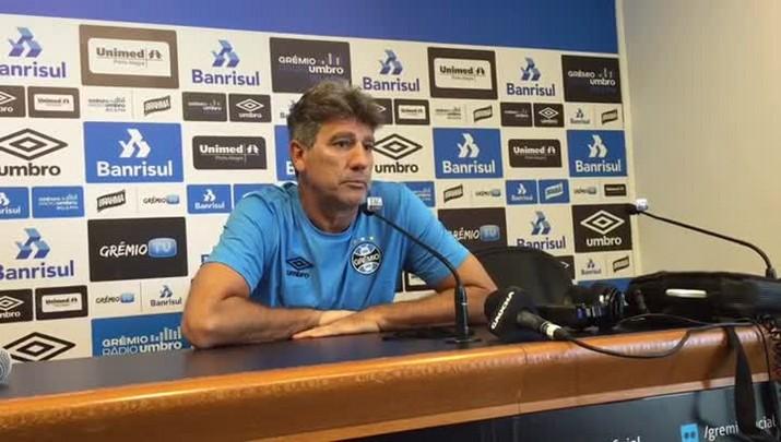 Renato fala sobre opções do Grêmio para enfrentar o Cruzeiro
