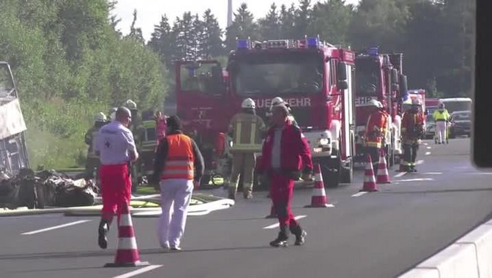 Grave acidente de ônibus na Alemanha