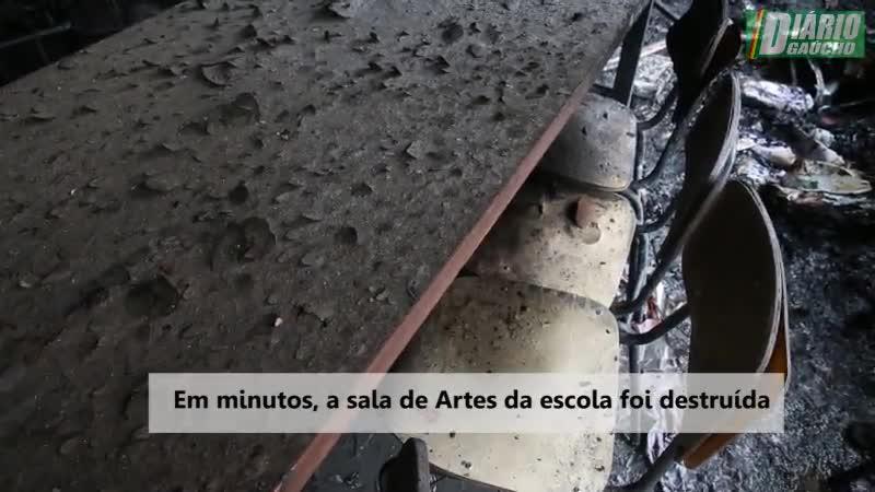 Escola é incendiada no Bairro Mario Quintana, em Porto Alegre