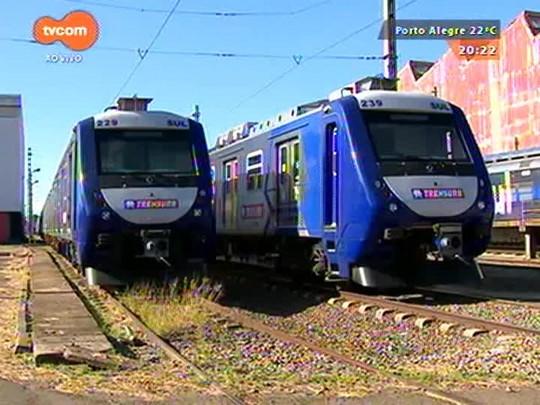 TVCOM 20 Horas - Trensurb tira de circulação 15 trens novos - 08/04/2015