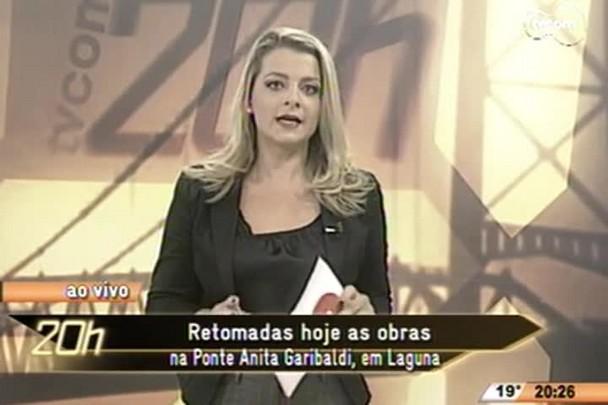 TVCOM 20 Horas - Retomadas as obras na Ponte Anita Garibaldi, em Laguna - 12.05.15