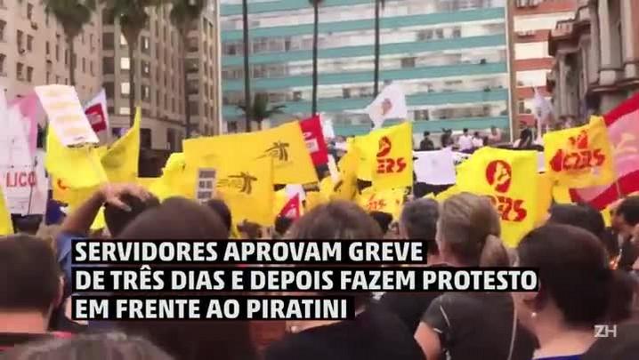 Servidores estaduais aprovam greve de três dias