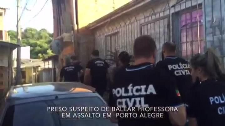 Veja imagens da prisão do suspeito de balear mulher durante assalto na Capital