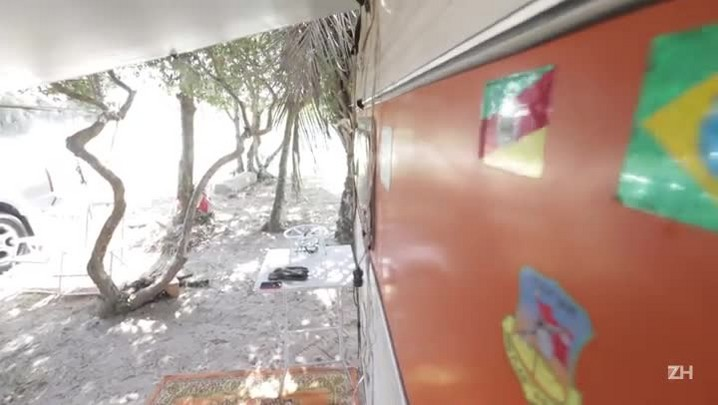 Em Arambaré, camping e figueiras são atração