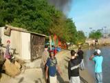 Incêndio destói ranchos de pescadores em Coqueiros