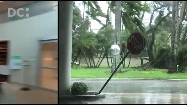 Catarinense abrigada em hospital relata como está Miami durante o furacão Irma