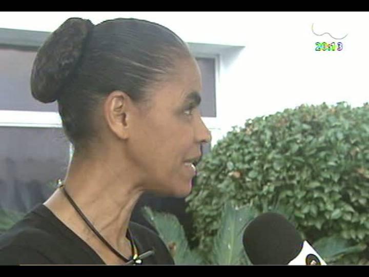 TVCOM 20 Horas - Entrevista com Marina Silva sobre a criação do partido Rede Sustentabilidade - Bloco 2 - 27/05/2013