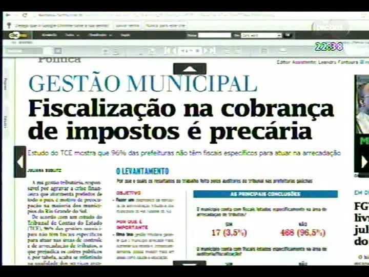 Conversas Cruzadas - A falta de fiscais de arrecadação tributária nos municípios - Bloco 2 - 16/07/2013
