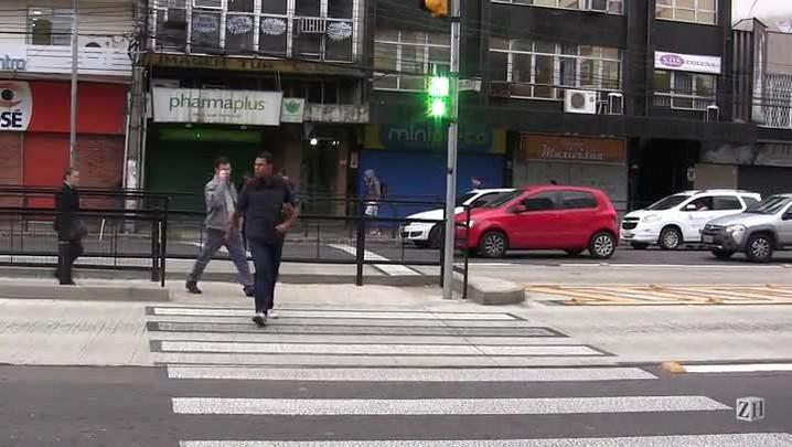 Teste em sinaleiras de pedestres