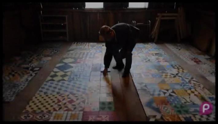 Sergio Viecili faz ladrilhos em Bento