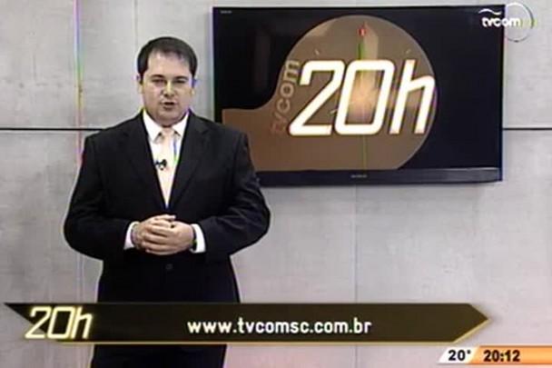 TVCOM 20 Horas - Ministro da Justiça está em SC para resolver segurança contra ataques - 2º Bloco - 03/10/14
