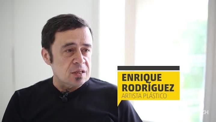 Artista plástico Enrique Rodríguez