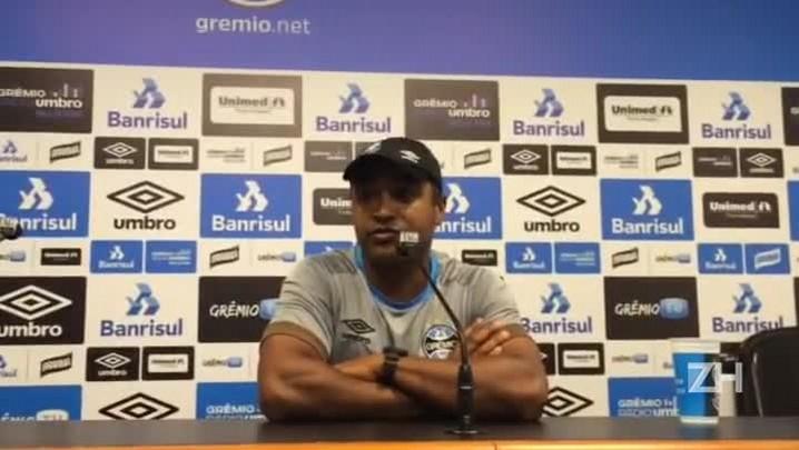 Roger fala sobre o planejamento para os próximos jogos do Grêmio