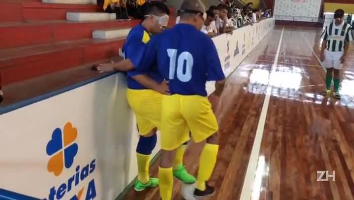 Times Ismac x Unicep disputam Copa Loterias Caixa de Futebol de 5 de cegos