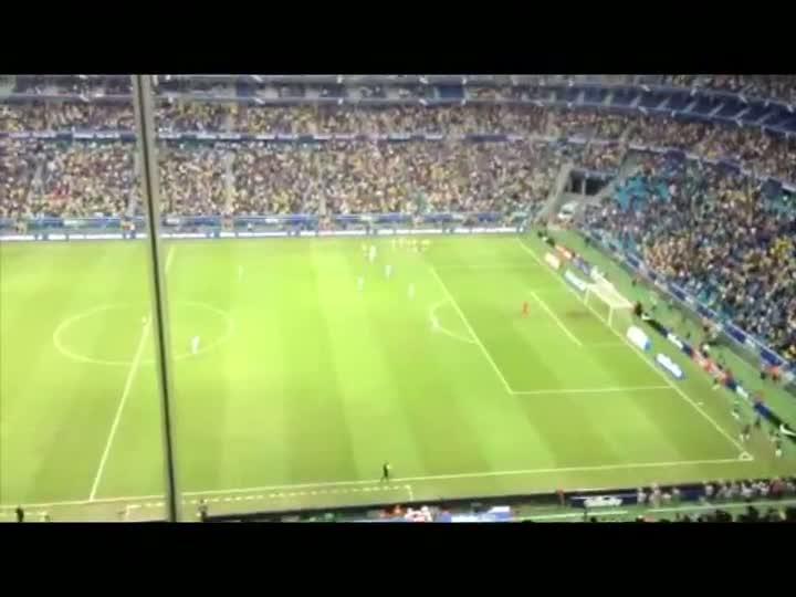 Veja e ouça os gols de Brasil 3x0 França. 09/06/2013