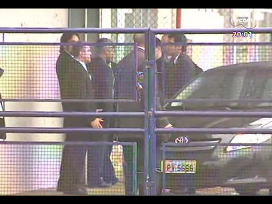 TVCOM 20 Horas - Secretário-geral da Fifa, Jérôme Valcke, visita Beira-Rio e se reúne a portas fechadas com autoridades - Bloco 1 - 21/05/2014