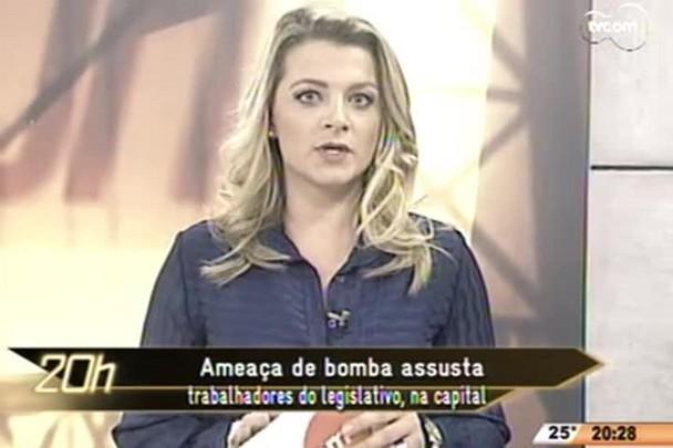 TVCOM 20 Horas - Ameaça de bomba assusta trabalhadores do legislativo, na capital - 22.05.15