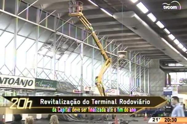 TVCOM 20 Horas - Revitalização do Terminal Rodoviário da Capital deve ser finalizada até o fim do ano - 25.05.15