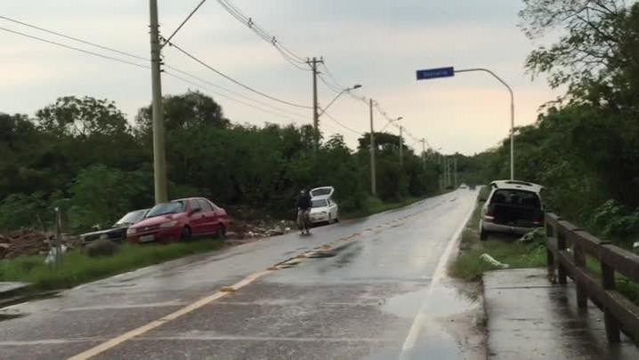 Perigo na Avenida Serraria e na Estrada da Ponta Grossa