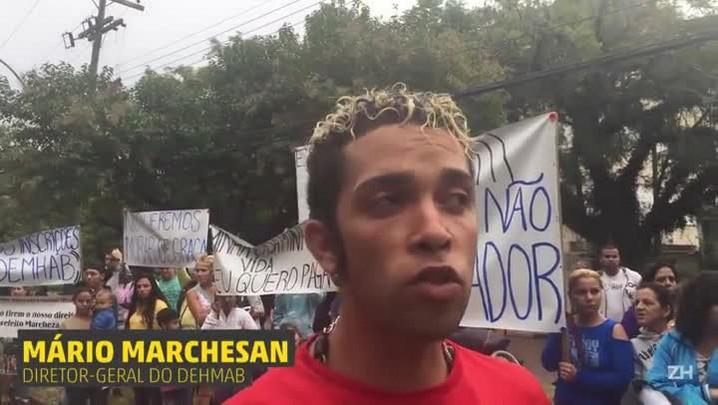 Moradores do Porto Novo protestam contra reintegração de posse
