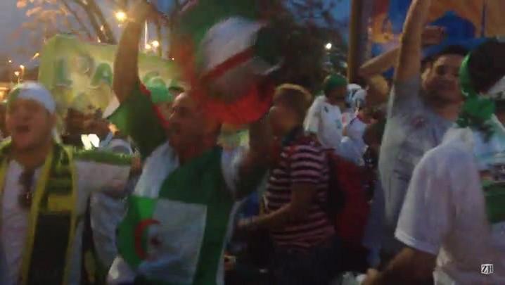 Apesar de contratempo, Argelinos comemoram vitória em cima da Coreia do Sul